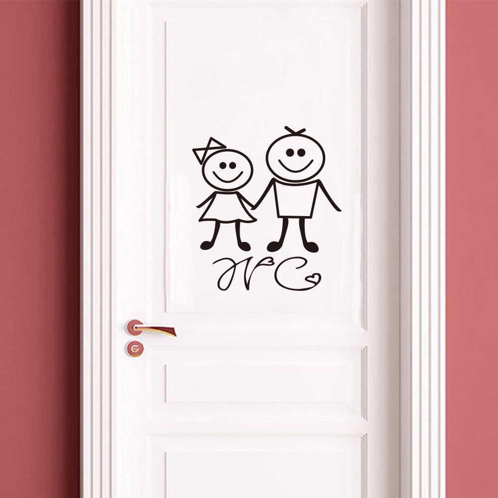 Картинки на дверь в ванну и туалет