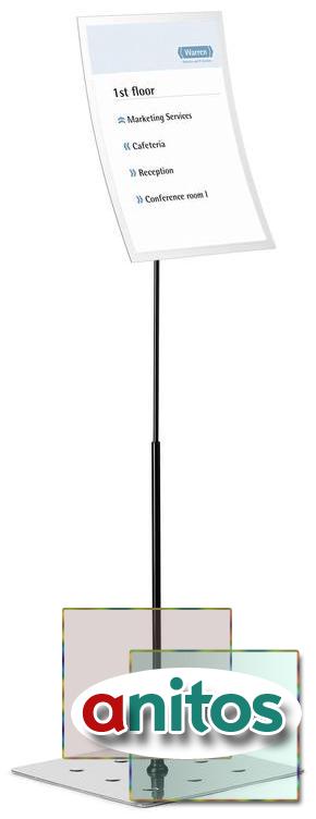 Информационный стенд напольный durable duraview а3 металлический серебристый (магнитная рамка) купить в интернет магазине 👍