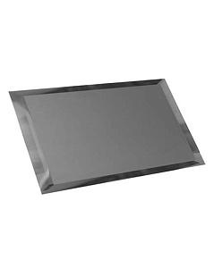 Квадратная зеркальная серебряная плитка с фацетом 10мм КЗС1-03 - 250х250 мм/10шт в Москве
