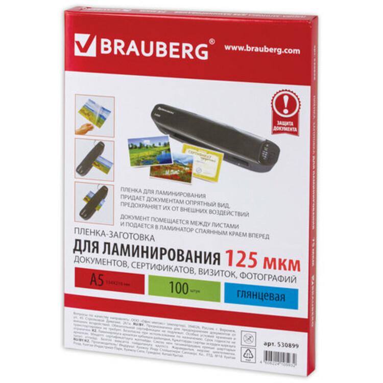 Пленки-заготовки для ламинирования BRAUBERG, комплект 100 шт., для формата А4, 60 мкм - купить на cайте ОФИСМАГ. Недорого, доставка.