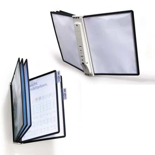 Демосистема настенная Durable Sherpa 5 панелей А4, черная, 5810-01, купить на «Durable online»