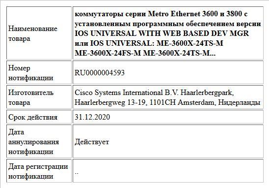 ugra.ru: Cisco ME-C3750-24TE-M Catalyst 3750 Metro Switch: Computers & Accessories