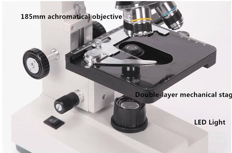 Phenix/микроскоп 40X 1600X биологического клинических микроскоп Монокуляр трубки светодиодный холодный свет для лаборатории детей, школьниковкупить в магазине Phenix Jiangxi Optical StoreнаAliExpress
