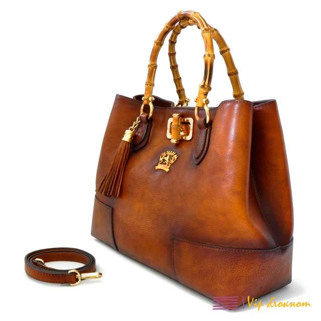 """Женская кожаная сумка """"Крис"""" (коричневая)"""