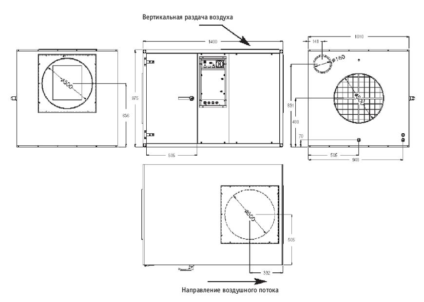 Осушитель воздуха Dantherm CDP 125 (400В)