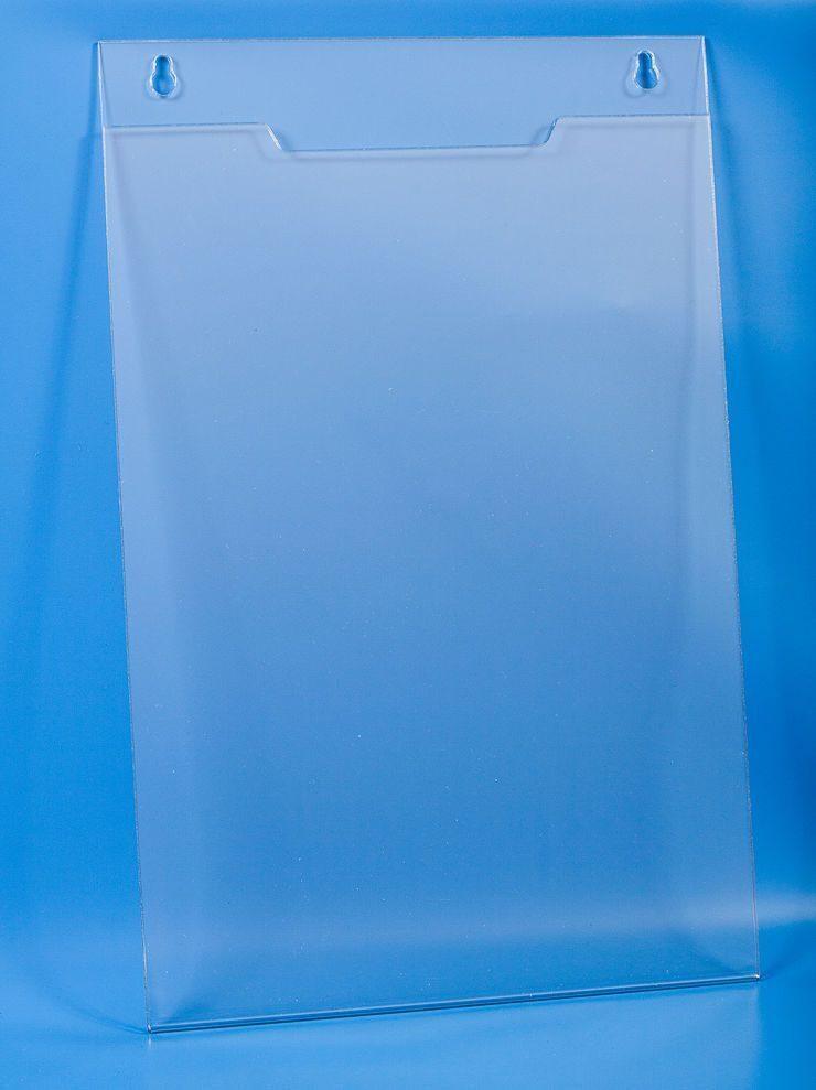 Настенный плоский карман А4 из ПЭТ с прозрачным скотчем арт. 16173/П