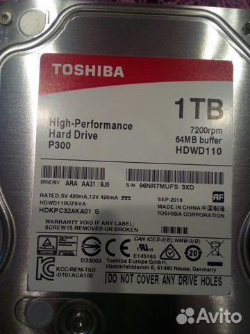 Купить 1 ТБ Жесткий диск Toshiba P300 [HDWD110UZSVA] в интернет магазине DNS. Характеристики, цена Toshiba P300 [HDWD110UZSVA] | 7942311