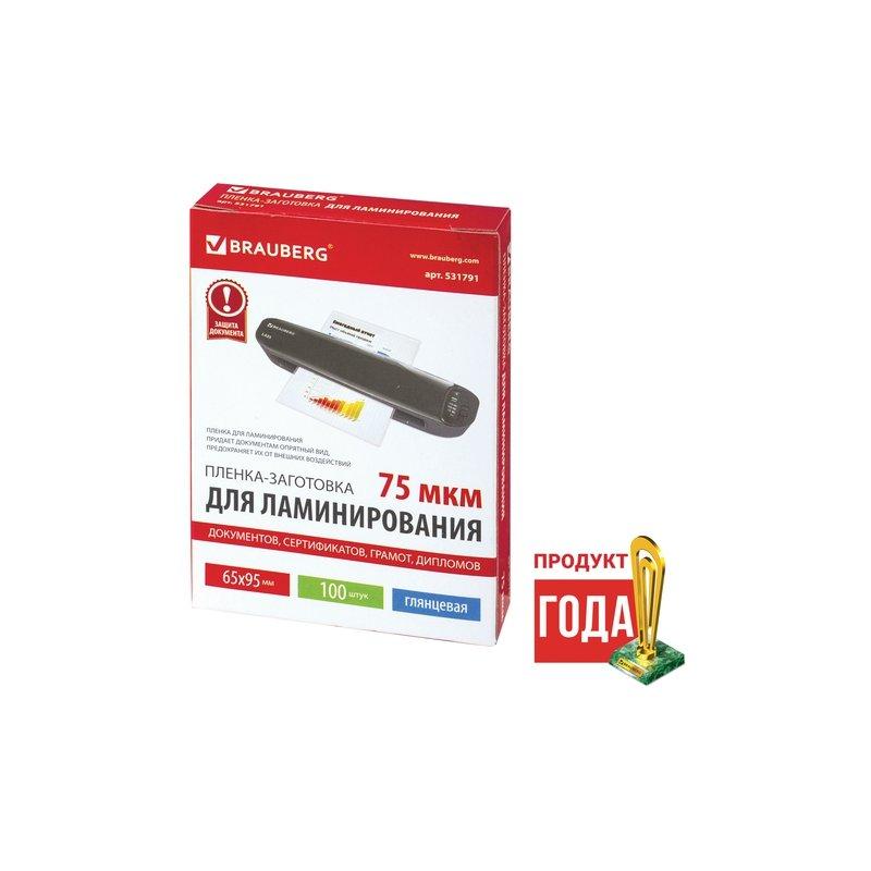Пленка-заготовка для ламинирования, 100 штук, А4, 60 мкм | Купить с доставкой | ugra.ru