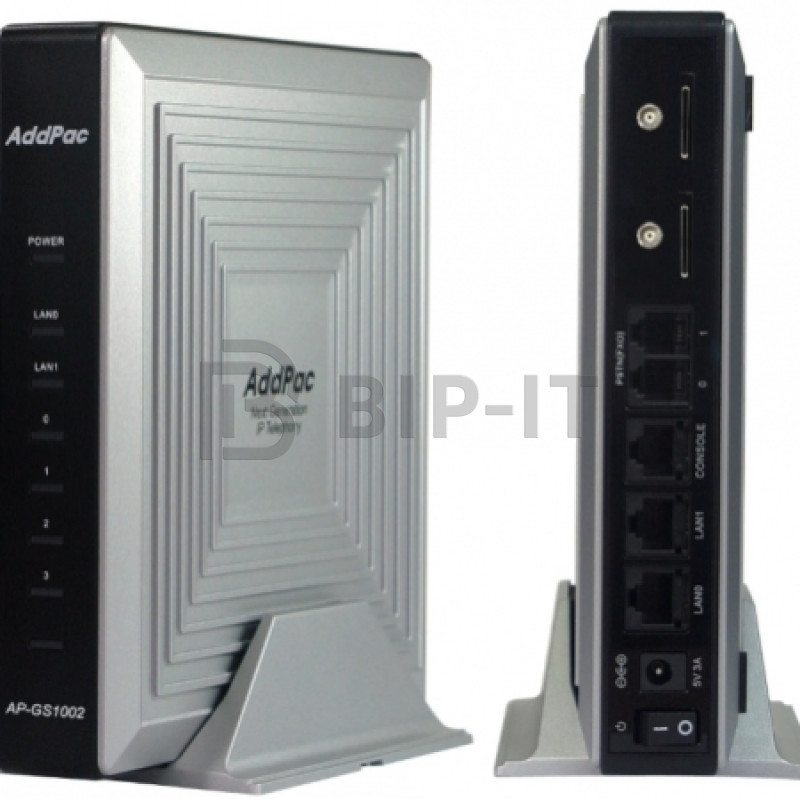 Шлюз Addpac VoIP-GSM, 2 GSM канала, SIP & H.323, CallBack, SMS. Порты Ethernet 2x10/100 Mbps [AP-GS1002A]