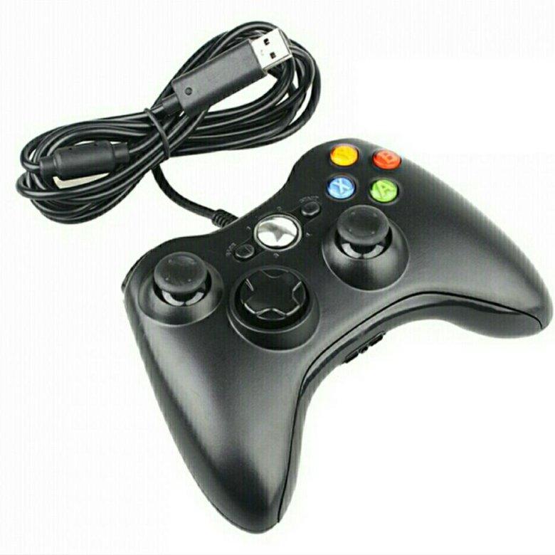 Джойстик проводной controller для pc xbox 360 (black) (черный) купить в интернет магазине 👍