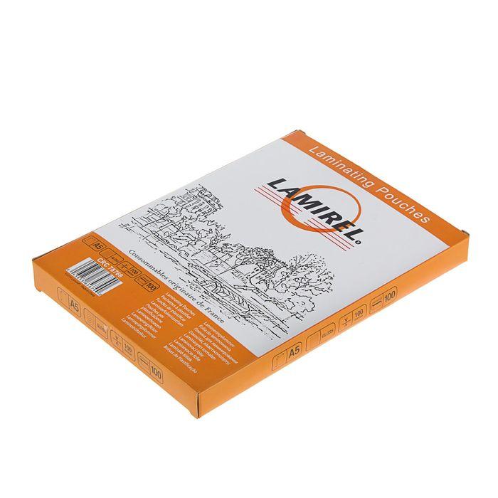 Пакетная пленка для ламинирования Lamirel A5, глянцевая, 100 мкм, 100 шт купить: цена на ugra.ru