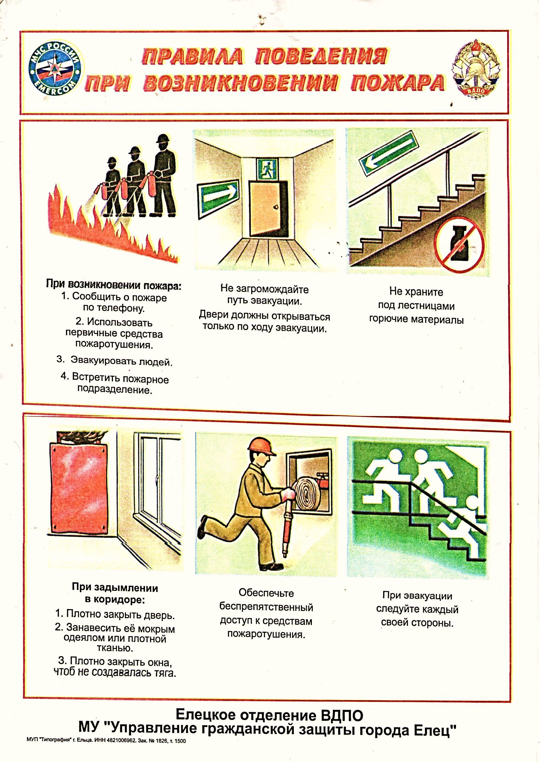 действия сотрудников при пожаре в картинках народов