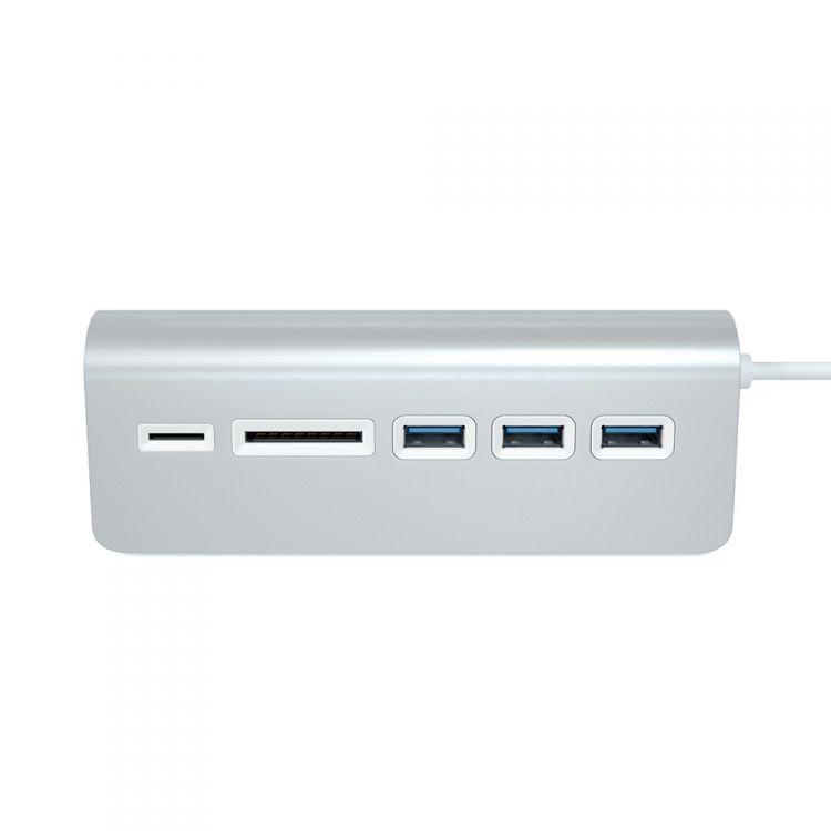 Купить uSB-хаб и картридер Satechi Aluminum USB 3.0 Hub & Card Reader ST-3HCRS (Silver) в Москве в каталоге хабов с доставкой. Характеристики, цены в интернет-магазине iCover.