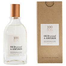 100BON Oud Wood & Amyris Eau de Cologne 50ml - Feelunique