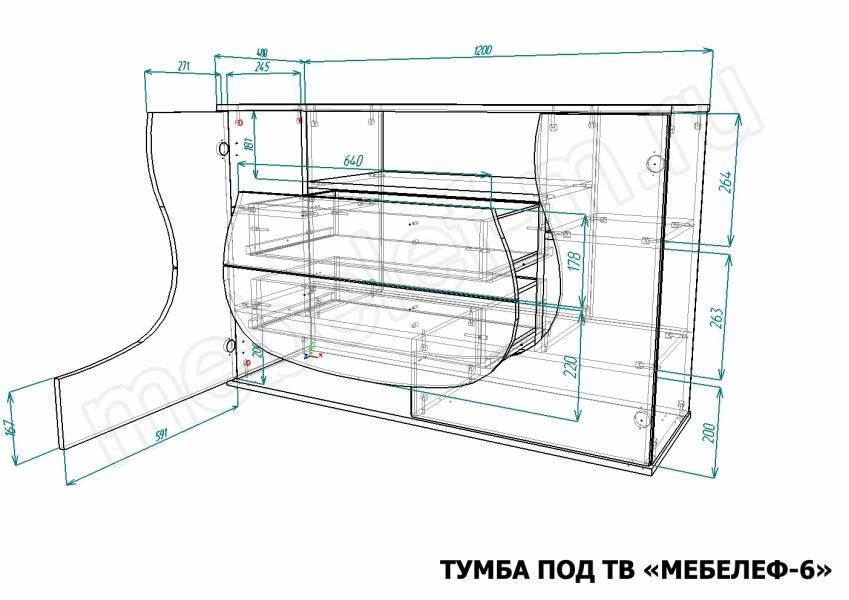 Тумба под ТВ Мебелеф-2 купить по цене 5904 руб. в интернет-магазине Мебелеф Москва