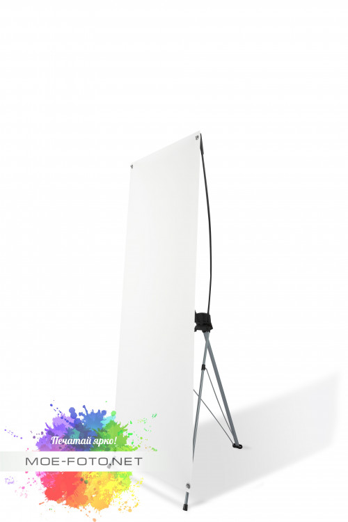 """Купить Стенд мобильный для баннера, """"X-banner А2"""", размер рекламного поля 800х2000 мм 290518 – цена на сайте интернет-магазина ООО """"ДИДЖИЛАЙН"""" Калининград. Технические характеристики, отзывы, доставка."""