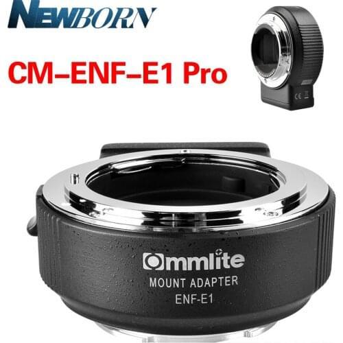 Commlite CM-ENF-E1 PRO V06 Focus Lens Adapter from Nikon F Lens to Sony E-mount