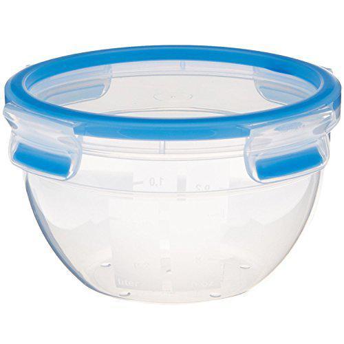 SUPERLINE Food storage container, round/flat–EMSA