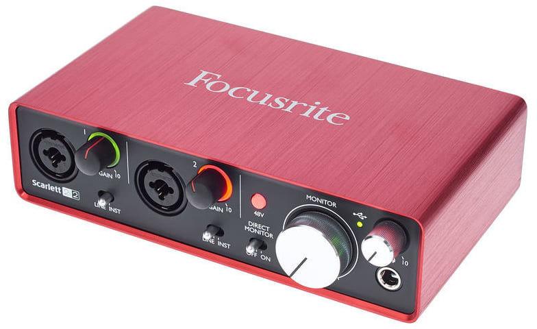 Focusrite Scarlett 2i2 2nd Gen, купить внешнюю студийную звуковую карту Focusrite Scarlett 2i2 2nd Gen
