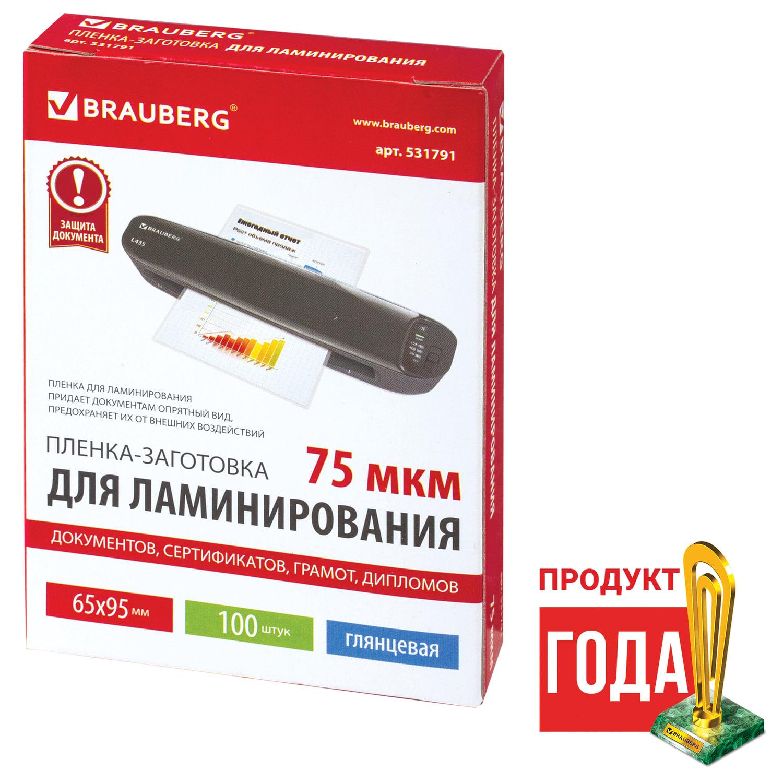 Пленки-заготовки для ламинирования ОФИСМАГ, комплект 100 шт., для формата А3, 125 мкм, 531449 купить