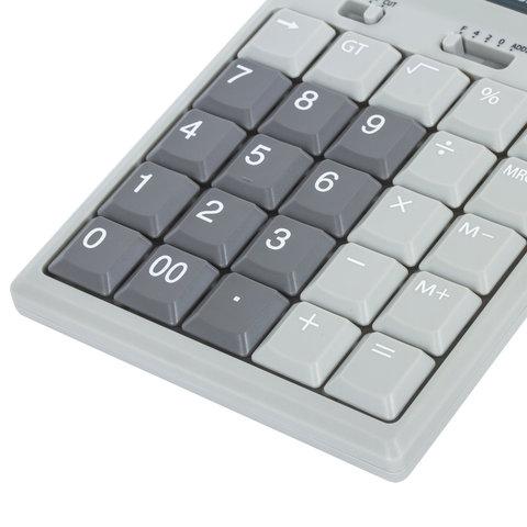 Калькулятор настольный металлический STAFF STF-2312 (175х107 мм), 12 разрядов, двойное питание, 250135 купить