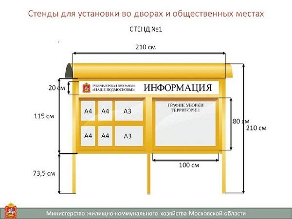 Стенд для установки во дворах и общественных местах Вариант-2 - широкий выбор товаров и магазинов. Сравните цены!